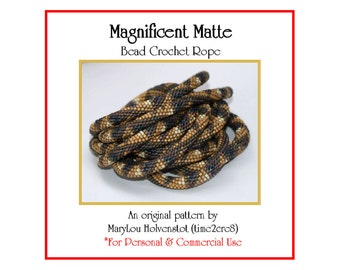 Bead Crochet Pattern ... MAGNIFICENT MATTE ... Geometric . Seven Colors . PDF . Geometric . Sawtooth . Personal . Commercial . Triangles