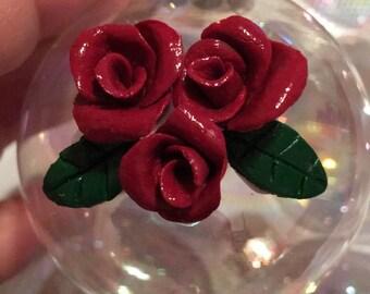Dozen Red Rose Ornaments
