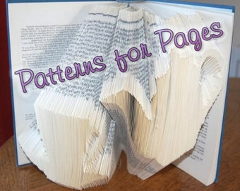 Book folding pattern for a TEACUP & TEAPOT