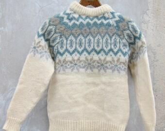 Woolen chunky knit sweater woolmark