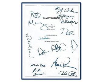 Ghostbusters Movie Script Signed Screenplay Autographed Bill Murray, Dan Aykroyd, Sigourney Weaver, Rick Moranis, Annie Potts, Ernie Hudson
