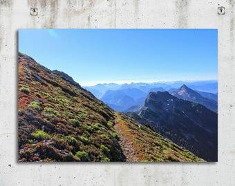 Trail to Three Fingers - Hiking, Scenic, Photography - North Cascades, Washington - Fine Art Print - Canvas Gallery Wrap - Metal Print