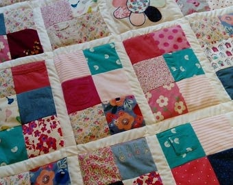 Memory Keepsake Quilt - Baby clothes quilt, patchwork quilt, memory quilt, school quilt, clothing keepsake, memory blanket, keepsake quilt