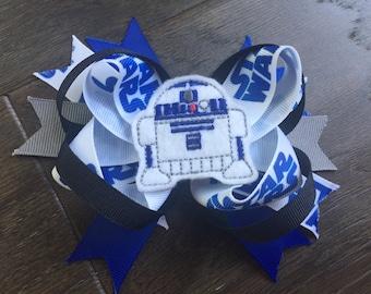 R2-D2 Star Wars inspired hair bow