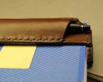 Handmade notebook pen sleeve/quiver for Moleskine/Field notes/3.5x5.5