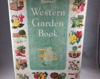 Sunset Garden Book - Vintage Garden - Western Garden Book - Sunset Book - Gardening Book - Mother's Day Gift - Northwest Garden