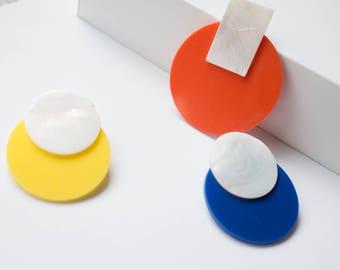 Mondrian Stud Earrings studearrings art inspired earrings