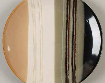 Jazz by HOME TRENDS- Collectible Side Plate Striped Bands, Smooth, Coupe, No Trim