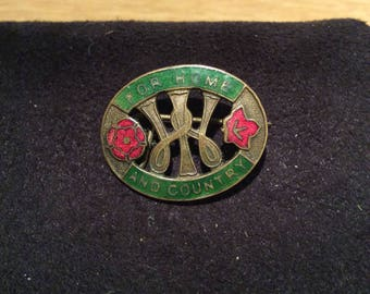 National Federation of the Women's Institutes, For Home and Country W.I. Badge.  A scarce original circa late 1930's