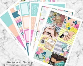 Garden Party // Erin Condren Vertical Weekly Planner Kit - MATTE