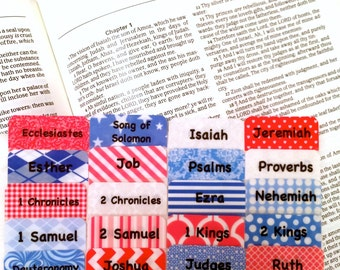 STANDARD Red/White/Blue Books of Bible Tabs by Victoria Anderson
