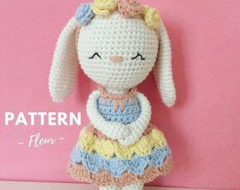 Fleur | Crochet Bunny, Crochet Pattern, Crochet Bunny Pattern, Amigurumi Pattern, Amigurumi Bunny, Amigurumi Bunny Pattern, PDF