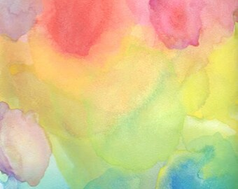 Watercolor Painting, Abstract Art, A Playful Day
