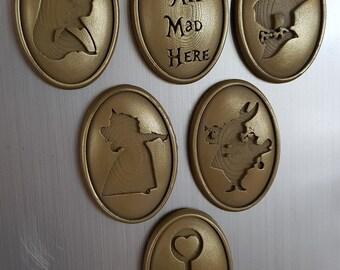 Alice In Wonderland Silhouette Magnet