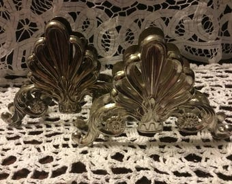 "Gorgeous vintage silver-plated zinc napkin and knife holders made by ""Elegance""- made in China -"