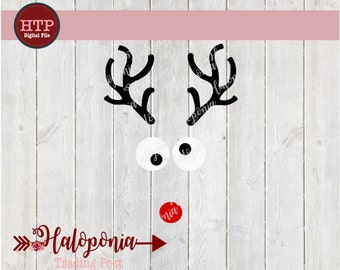 Christmas Reindeer Rudolph Face SVG File