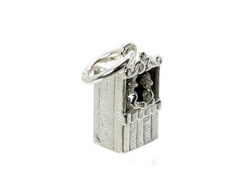 Sterling Silver Movable Punch & Judy Charm For Bracelets
