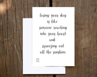 Dog Sympathy Card | Loss of Pet | Pet Sympathy Card |