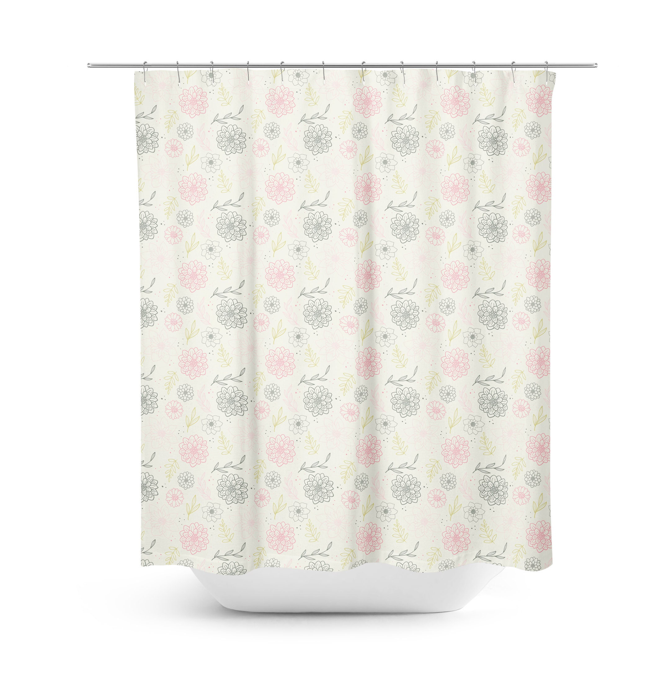 Comfortable Light Pink Shower Curtain Pictures Inspiration - The ...