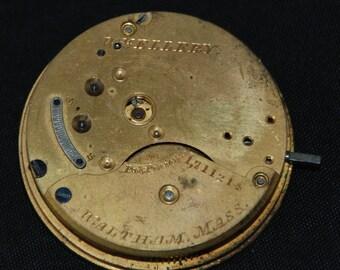 Vintage Antique Waltham Watch Pocket Watch Movement Steampunk SM 53