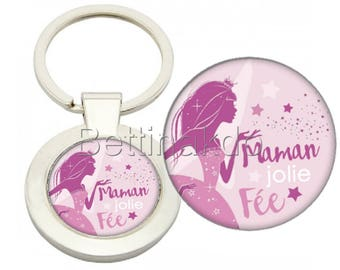 "DELUXE ""FAIRY PRETTY MOM"" KEYCHAIN"
