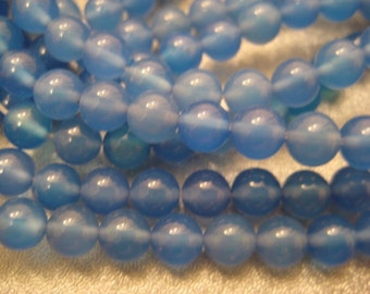 Blue onyx 6mm Round Beads 67pcs