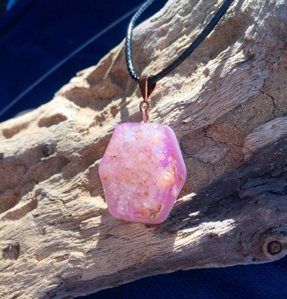 Weightloss Orgone Energy Charm- Love Energy Orgone Pendtant- Grounding Energy- Himalayan Salt Orgone Necklace-Cleansing & Stress Relief