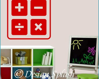 Accounting MATH Add Subtract Multiply Divide Vinyl Wall Decal S-128