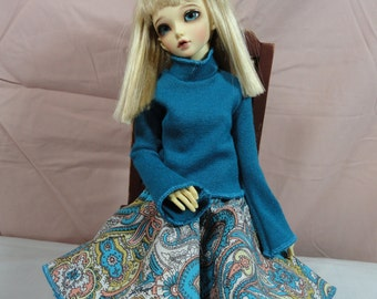 MSD BJD Sweater Turquoise 1