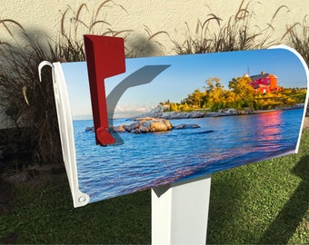 Serene Island Magnetic Mailbox Cover