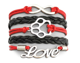 I love my dog (black and red)