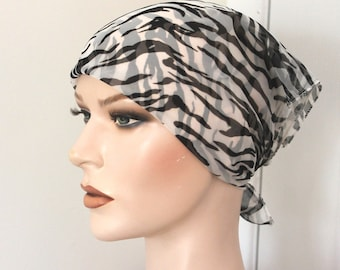 Vintage black/white animal print scarf,vintage animal print neck scarf,black/white animal print head scarf,animal print scarf,women,teen