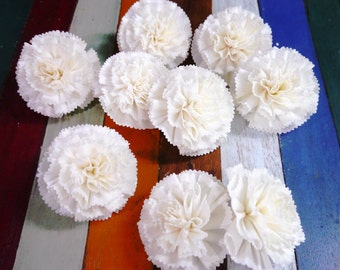 9 Carnation Sola Wood Diffuser Flowers 8 cm Dia.