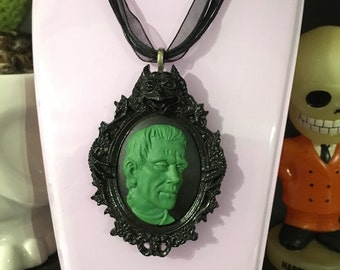 Frankenstein gargoyle necklace