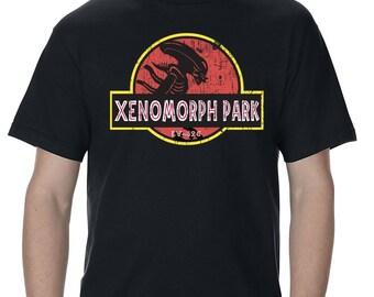 Alien Xenomorph Park Adult T-Shirt