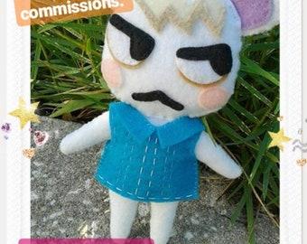 Felt Animal Crossing Plushie Commission