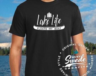 Lake Life Floats My Boat, Lake Shirt, Fishing T-shirt, Vacation Shirt, Boating T-shirt, Father's Day Shirt