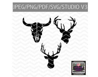 Bull Head Trio SVG