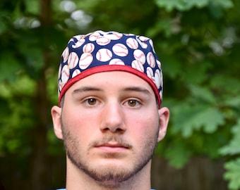 Men's scrub hat, baseball scrub hat, surgical scrub hat