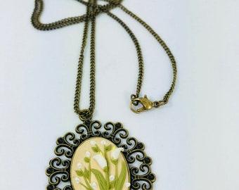 Unique Handcrafted Flower Necklace