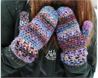 Mitten Crochet Pattern - Crochet Pattern for Warm Mittens - Bulky & Quick Cross Stitch Mittens Crochet PATTERN by MJ's Off The Hook Designs