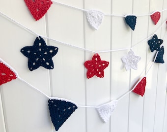 Red, White and Blue Garland | Bunting