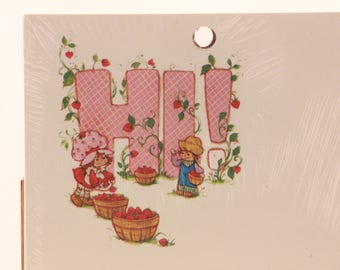 """2 Pack of Note Pads By American Greetings. """"HI"""" Strawberry Shortcake. Sealed"""