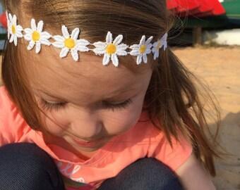 Daisy Headband Baby, Hippie Baby Headband, Daisy Baby Headband, Toddler Headband, Baby Headband, Daisy Flower Crown, Daisy Headband, Daisies