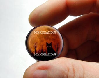 Moon Cat Cabochon for Jewelry and Pendant Making