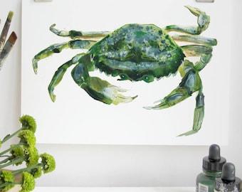 Green Crab Print