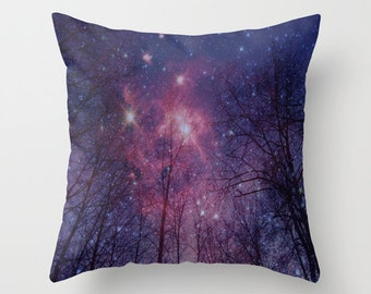 Decorative Throw Pillow - Different sizes to Choose From, With or Without Inserts, For Indoors or Outdoors, Abstract, Dark, Night,