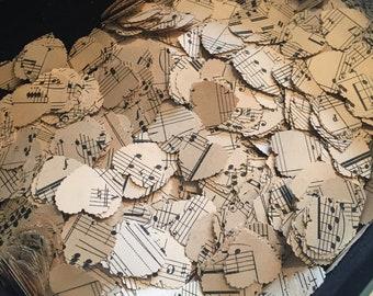Vintage Music Sheet Table Confetti