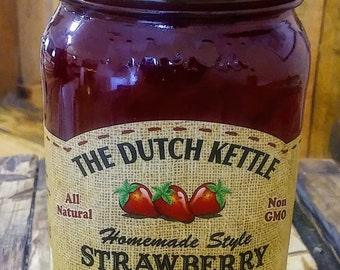 Homemade Style Strawberry Jam All Natural