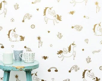 Magical Unicorn Wall Decals - Wall Decor, Gift for Her, Unicorn Decor, Nursery Decor, Gift for Daughter, Unicorn, Vinyl Wall Decals